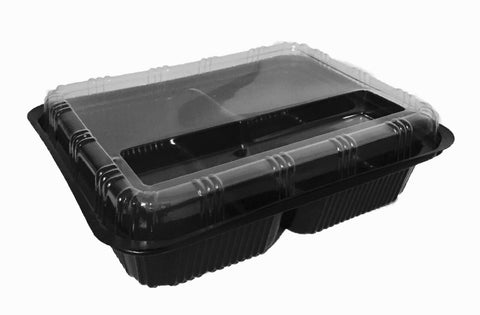 Driven 3 Compartment Elegant Bento Packaging Box (200 sets per lot)