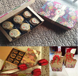 6 Snowskin Size Mooncake Chinese Flowers box mooncake more (30 per lot)