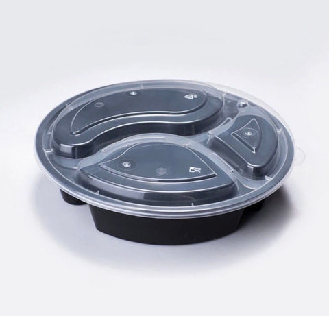 Round 1000ml Meal Prep Bento Containers with Lid Microwavable Plastic more (300 per lot)