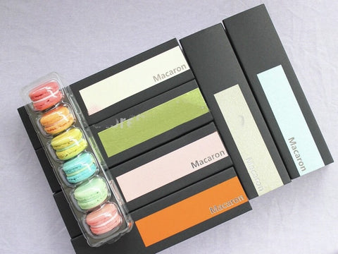 Macaron Drawer Style Pull Out Box in Plastic more and Paper (100 per lot more)