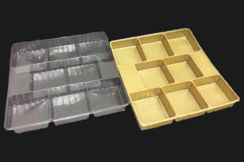 Fidelity 8 Square Chocolate / Mooncake in Square Tray (50 per lot) - Happypack Purchasing