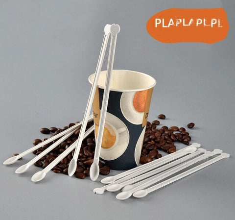 Compostable PLA Coffee Stirrer 16cm Biodegradable Drinks more Cutleries more (500 per lot)
