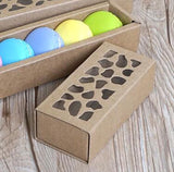 Kraft/ White Macaron Box  Paper more (10 per lot more)