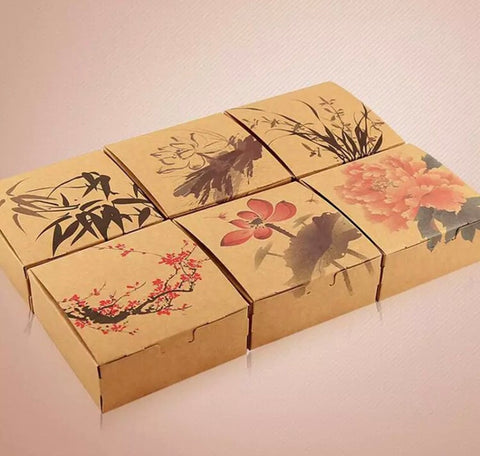 Chinese Drawing Art Mooncake Box cake candy biscuit mooncake more  (100 per lot)