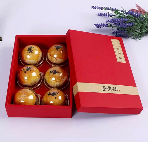 Red Mooncake Box for 6 Snowskin size Paper Mooncake more (20 per lot)