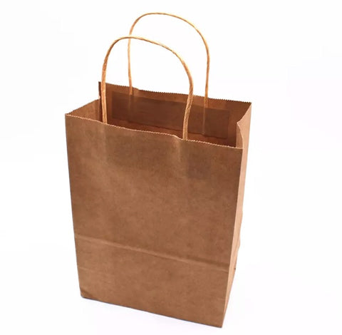Kraft paper bag with handle bag more (10/30/100/150/300/500/2000/5000 per lot)