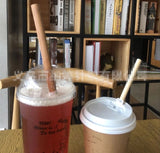 L20cm D1.2cm Bamboo Straws Reusable Washable Boba Bubble Tea (5/10/50/100 per lot)