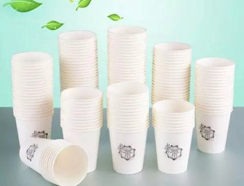 250ml/8oz White/ Brown Paper cup double wall PLA coating drink more (5000 per lot)