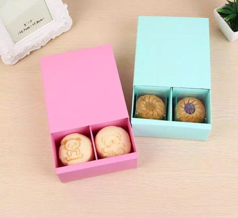 14.5*13*5.5cm Mini Mooncake more 4 Border Packaging Box Cookie Hand Gift 2 Colours Drawer Candy (100 per lot)