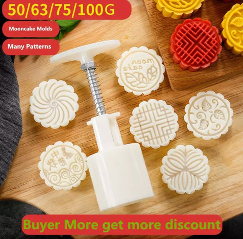 Regular / Snowskin Mooncake Size Stamps + Stamper Mold Molder Tool Maker Mooncake More (1 per lot)