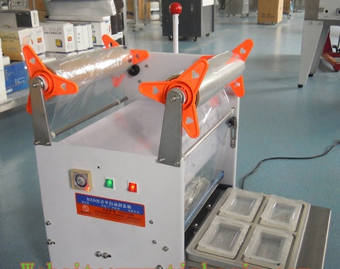 4x Sealing Semi Automatic Automated Lunchbox Sealing Machine Trays Commercial use business shops use device (1 per lot)