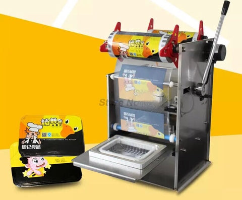 Semi Automatic Lunchbox Sealing Machine Trays Commercial use business shops use hand-press device (1 per lot)