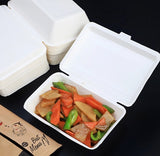 White Paper Bento Rectangular in 3 Sizes Meal Salad Rice Takeaway Eco more (50 per lot)