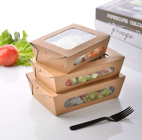 Kraft Paper Bento With A View Eco more (400 per lot)