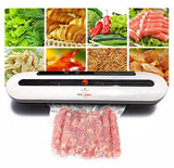 Commercial Electric Vacuum Sealer Dry or Wet Automatic heat seal plastic film bag teflon kitchen tool storage machines device comes with 10 free vacuum bags (1 per lot)