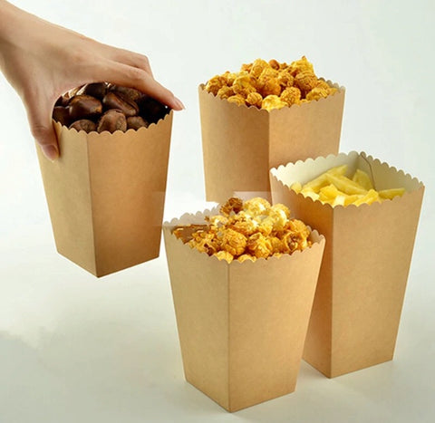 600/900/1200ml SNACK Brown Kraft Paper Box (20/200 per lot)