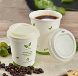 Compostable PLA Cup Lids With Paper Cups Order Separately Biodegradable Disposable 3 sizes drink more (1000 per lot)