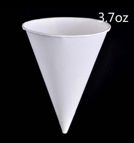 110ml White Paper Cone Cup Drink More (200 per lot)