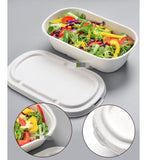 800ml/1000ml 23cm Bagasse Bento With 2 Lid Choices Eco more (500 per lot)