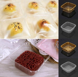 75/100g Snowskin and Regular Mooncake Square Trays Available in 2 Colours  mooncake more (100 pieces)
