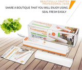 220V Commercial Electric Vacuum Seal Automatic heat seal plastic film bag teflon kitchen tool storage machines device comes with 20 free vacuum bags (1 per lot)