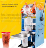 1x Semi Automatic Handheld Heavy-Duty Manual Digital Fruit Juice Bubble Tea Seal Cup Machine Stainless Steel Boba Tapioca Pearl Device Automatic  Cup Diameter 95mm Device (1 per lot)