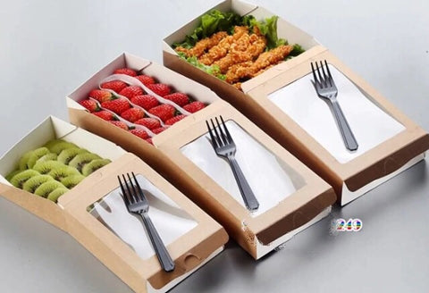 800/900/1100ml Drawer Kraft Paper Bento Eco more (100 per lot)