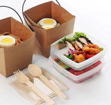 Chinese Takeout Paper Bento TWO Levels with Handle Eco more (100 per lot)
