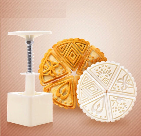 5-in-1 Triangle Snowskin Mooncake Size Stamp Stamper Mold Molder Tool Maker Mooncake More (1 per lot)