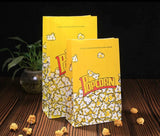 Yellow Kraft Box Paper Bag Pop Snack Box French Fries Thick Cinema Yellow Oil-proof Disposable 2 sizes Paper more (100per lot)