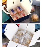 14*14*6.5cm Fits 4 Snowskin or 1 Regular Mooncake more Designer Packaging Box Handle Cookie Hand Gift Printed Pattern Outstanding Colour 11 Colours  (100 per lot)