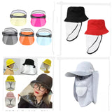 Stop Virus Anti-fog Plastic Hat Face Masks Prevents Saliva Transmission Wind Sand Proof to Combat Covid-19 (1 piece per lot)