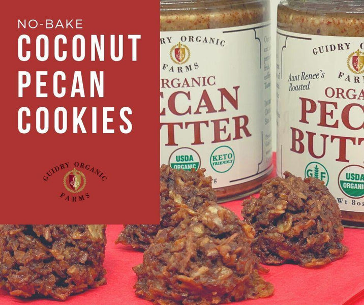 No-Bake Coconut Pecan Cookies