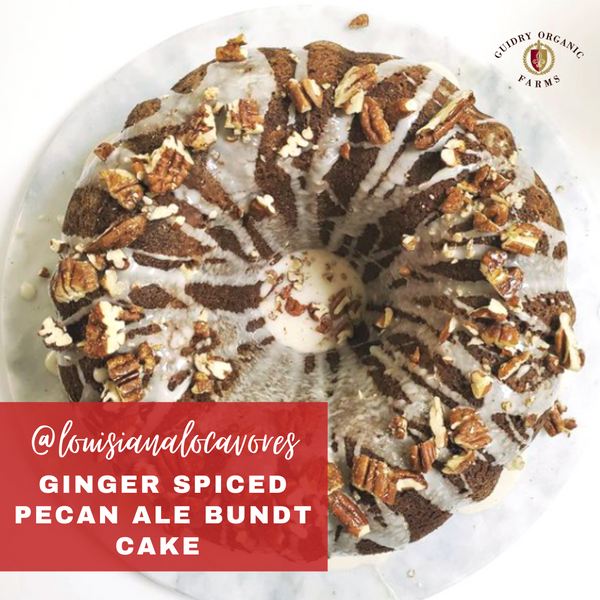 Ginger Spiced Pecan Ale Bundt Cake by @louisianalocavores