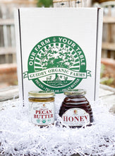 Load image into Gallery viewer, Gift Box #6: 8oz Pecan Butter & 12oz Raw Honey - Guidry Organic Farms