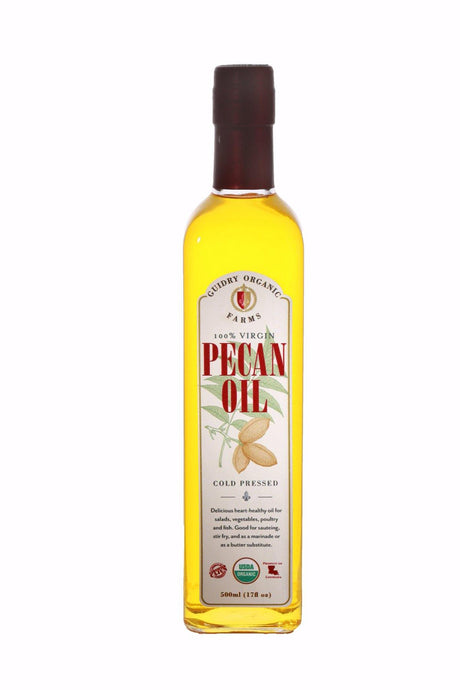 100% Virgin Organic Pecan Oil - Shop for 100% Virgin Organic Pecan Oil - Guidry Organic Farms