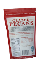 Load image into Gallery viewer, Glazed Pecans 8oz GLUTEN-FREE. DAIRY FREE. REFINED SUGAR-FREE