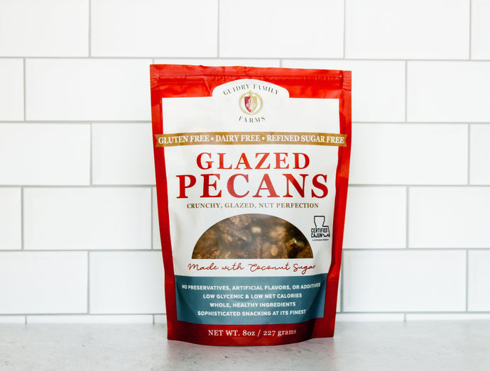 8oz Glazed Pecans (Gluten Free, Dairy Free, Refined Sugar Free) - Guidry Organic Farms