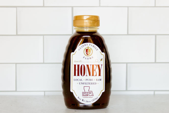 16oz Honey - (Raw. Local. Pure. Unfiltered) - Guidry Organic Farms
