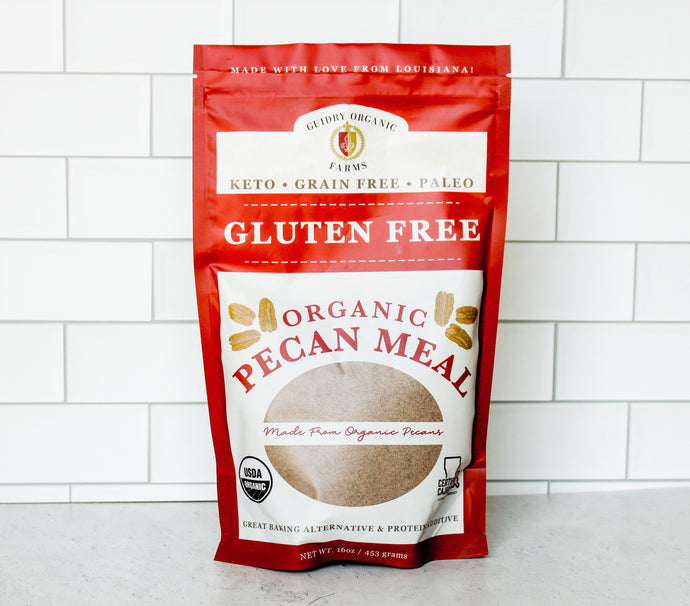 USDA Certified Organic Pecan Meal (Paleo, Grain Free, Keto Friendly, Gluten Free) - Guidry Organic Farms