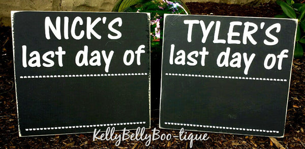 First Day/Last Day Of School Chalkboard With Name - Kelly Belly Boo-tique  - 1