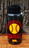 Sports Theme 34 Ounce Wide Mouth Water Bottle - Kelly Belly Boo-tique  - 1