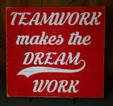 Teamwork Makes The Dream Work sign - Kelly Belly Boo-tique  - 2