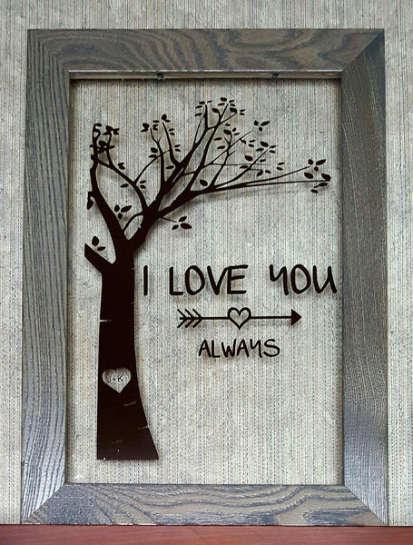 I Love You Always floating frame - Kelly Belly Boo-tique  - 1