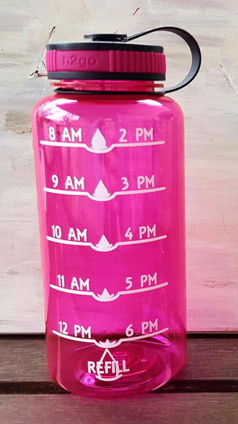 34 Ounce Wide Mouth Water Tracker Bottle - Kelly Belly Boo-tique  - 1