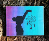 Heart Dream Catcher With Silhouette wood sign - Kelly Belly Boo-tique  - 1