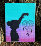 Heart Dream Catcher With Silhouette wood sign - Kelly Belly Boo-tique  - 2