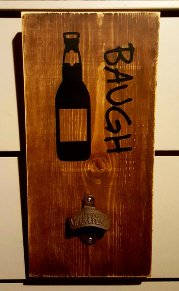 Personalized Wall Mounted Bottle Opener - Kelly Belly Boo-tique