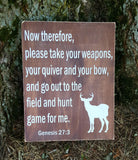 Genesis 27:3  Hunting Game sign