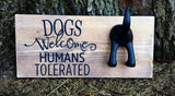 Dog Sign With Leash Hook